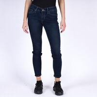 Levi's 711 Skinny ankle crop zippers Damen indigo blau Jeans DE 36 / US W28