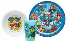 Zak Paw Patrol Kids Plastic Plate, Bowl & Cup Mealtime Gift Set 3 Pieces