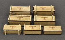 DioDump DD147 German crates 1:35 scale laser cut wood diorama accessories 7 pcs