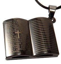 HALSKETTE - BUCH/ BIBEL MIT BIBLISCHEM TEXT - KREUZ - LUXUS - INKGRAFIX® - NEU