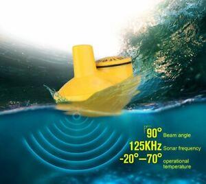 Wireless Fish Finder Sonar Fishfinder Portable Echo Fishing Sounder D+T Head