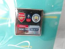ARSENAL MANCHESTER CITY FA CUP SEMI FINAL Official Match Pin 23/4/17 Wembley