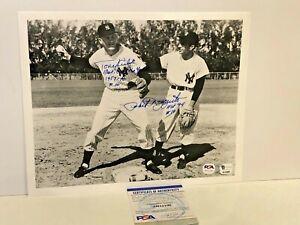 NY Yankees Phil Rizzuto and Tony Kubek dual signed 8x10 photo Inscribed PSA/Dna