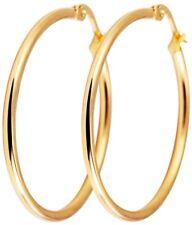 Titanium Titan Ohrhänger Ohrringe Klapp Creolen Kreolen dünne Damen vergoldet 30