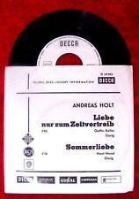 Single Andreas Holt Liebe nur zum Zeitvertreib Sommerli