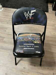 🔥ULTRA RARE!🔥- Authentic WWF WWE Wrestlemania 17 X-7 X-Seven Ringside Chair