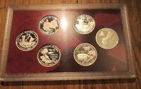 2009  Silver Quarter Proof Set U.S. Mint Plastic Sleeve No Box/COA  6 Quarters