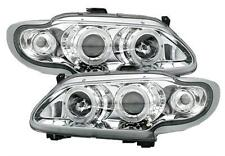 2 FEUX PHARE AVANT ANGEL EYES A LED POUR RENAULT MEGANE 1 96-99 CHROME