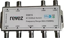 8 way REVEZ 8/1 DiSEqC Satellite Switch 8 LNBs into 1 Receiver ( 8x1 , 8 in 1)