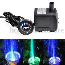 10W LED Light 600L/H Submersible Water Pump Aquarium KOI Fish Pond Fountain Sump