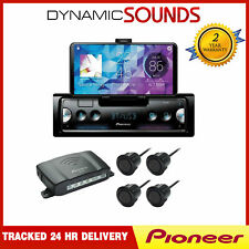 Pioneer iPod iPhone Android Bluetooth USB Car Stereo + Rear Parking Sensors