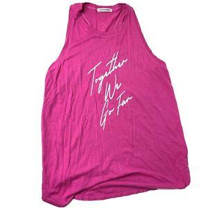 PELOTON Tank Top Women's Size Medium Together We Go Far Tank Pink