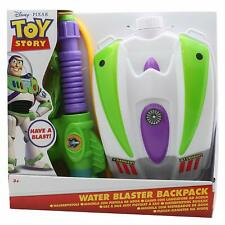 Disney Toy Story Buzz Large Portable  Kids Water Blaster Backpack and Water Gun