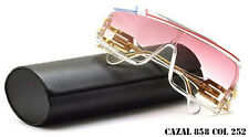 NEW CAZAL 858 SUNGLASSES  CRYSTAL (252) WHITE BLUE 100% AUTHENTIC