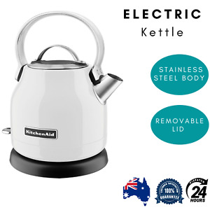 KitchenAid Classic 2200W Electric Kettle Jug Stainless Steel 1.25L White New
