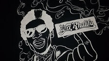 Rolling Paper Rapper WIZ KHALIFA T-Shirt Medium HIP HOP RAP