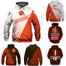 Cleveland Browns Hoodies 3D Print Sweatshirt Football Hooded Pullover Jacket Top