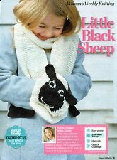 ~ Knitting Pattern For Child's Cosy Sheep Handwarmer Pocket Scarf ~