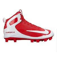 New NIKE ALPHA HUARACHE PRO MID MCS Mens Cleats University Red