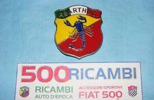 FIAT 500 F/L/R NUOVO STEMMA SCRITTA LOGO SCORPIONE EPOCA ABARTH X MASCHERINA