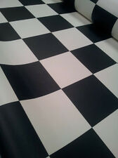 Black & White Checker Vinyl Flooring VW LWB T4 T5 T6 Camper Van 3 x 2 metres