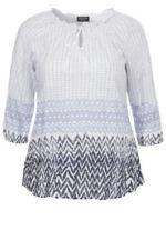 3/4 Arm Damenblusen, - tops & -shirts im Tunika-Stil mit Ethno