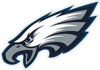 "Philadelphia Eagles NFL Color Die Cut Vinyl Decal - You Choose Size 3""-48"""