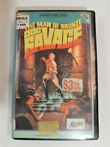 ULTRA RARE VHS. DOC SAVAGE: THE MAN OF BRONZE. BIG BOX CASE. EX-RENTAL. 1986