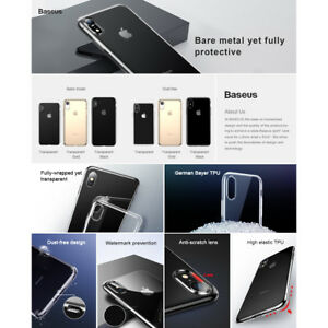[Baseus]Clear Soft Silicone Slim Protection Case Cover For iPhone XS MAX XR X/XS