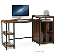 Computer Desk with Storage Bookshelves,47 inch Writing Desk,Pc Table
