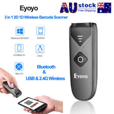 2.4G Wireless Bluetooth 2D Barcode Scanner Reader for iPad PC iPhone Android IOS