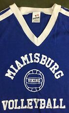 Vintage Women's 80s Miamisburg High School Volleyball Viking Blue T-Shirt S