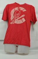 MLB St Louis Cardinals Wright & Ditson Short Sleeve Medium Mens Tshirt Red Faded