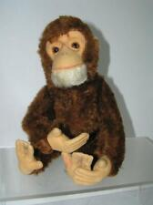 "Vintage Schuco Yes-No 14"" Chimp Monkey Rust Mohair Works!"