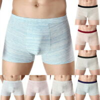 Summer Men's Underwear Breatheable Comfy Colored Cotton Boxers Briefs New LO