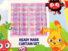Moshi Monsters Poppet Childrens Bedroom Curtains Window Drapes Washable Playroom