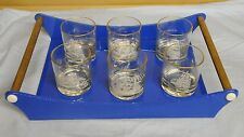 Vintage Seamen's Bank of Savings Tall Ships Glassware & Serving Tray Rare Find!!