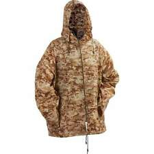 "New 45"" XL /2XL BROWN CAMO Hooded WATERPROOF PONCHO RainCoat Jacket Hunting Mens"