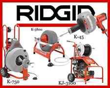 Ridgid K-750 (42007)K-3800 (53117) K-45-1(36013 KJ-3100(37413)cs65,max reel,sr24