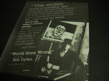 BOB DYLAN ...that's not my belief WORLD GONE WRONG 1993 Promo Display Ad mint