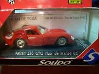 FERRARI 250 GTO TOUR DE FRANCE 1963 METAL DIE CAST SOLIDO 1:43  ( A16 )