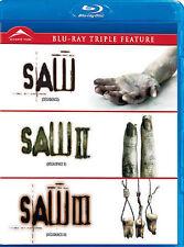 Saw I, II & III Triple Feature (Blu-ray Disc, 2012)