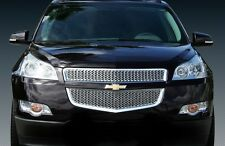 2009-2012 Chevy Traverse chrome mesh grille insert grill overlay 2pc trim