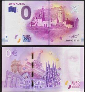 0 Euro Schein - BURG ALTENA - 2017 - UNC - Euro Souvenir