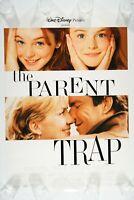 THE PARENT TRAP 27x40 Original DS MINT Movie Poster 1998 LINDSAY LOHAN D. QUAID