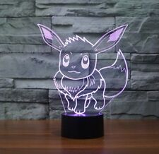 Picachu 3D acrylic led 16 color night light touch lamp remote control
