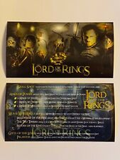 Lord of the Rings Stern Pinball Apron Instruction Cards
