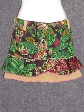 MISS SIXTY Colorful Corduroy Print Junior Girls Mini Skirt SZ 11