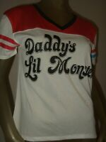Juniors L Suicide Squad Harley Quinn Daddy's Lil Monster DC Comics Jersey Shirt