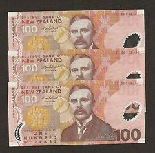 2008 New Zealand $100 Dollar Uncirculated P189b